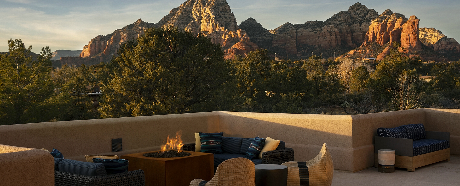 Sky Rock Inn of Sedona-terrace seating and red rocks